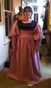 un-hemmed dress