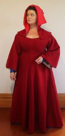 red wool overdress