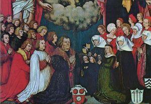 800px-Hans_Holbein_d._Ä.Porträt des Ulrich Schwarz und seiner Familie, detail c 1503