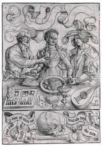 Graf Urs (vers 1485-1527) L'amour mercenaire Gravure Vers 1511