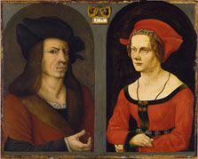 Jörg Breu the Elder, and an Anonymous Painter Nuptial Portrait of Coloman Helmschmid and Agnes Breu ca. 1500-05