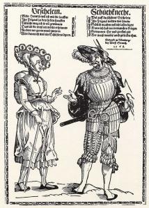 Landsknecht und sein Weib ca.1535 Erhard Schoen