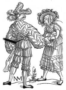 Musketeer and Wife c.1535 The German single-leaf woodcut, 1500-1550, Max Geisberg