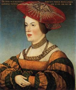 Portrait of Maria Welzer, née Tänzel 1524 maler