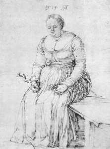 seated woman albert durer 1515